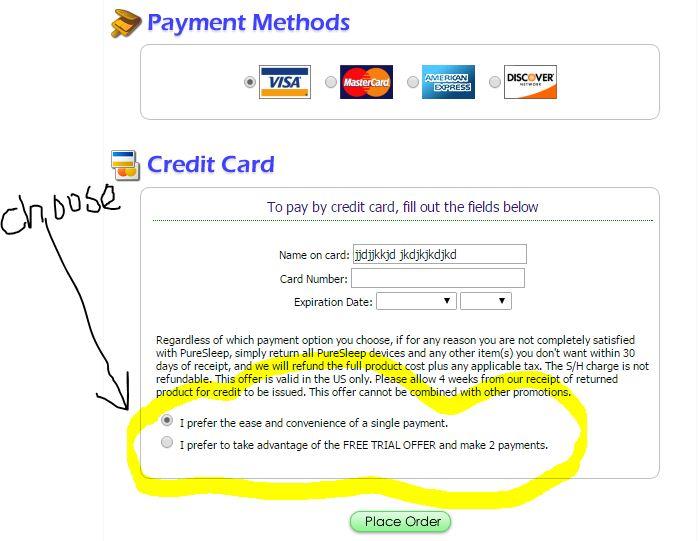 PureSleep reviews Payment