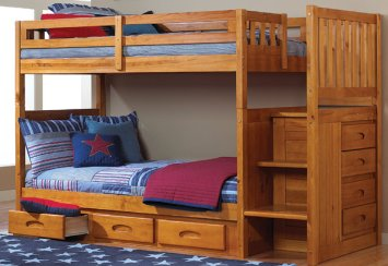Mission Twin Over Bunk Bed
