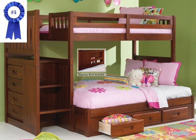 Advantages Of Utilizing Loft Beds For Kids Plans Stair Step Bunk Bed with 3-Drawer Bunk Pedestal