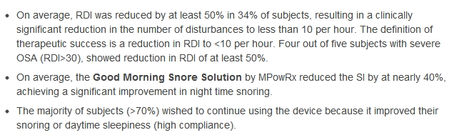 mouthpiece for snoring