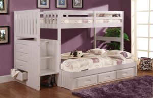 bunk beds with side stairs